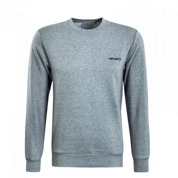 Herren Sweatshirt Script Embroidery Grey