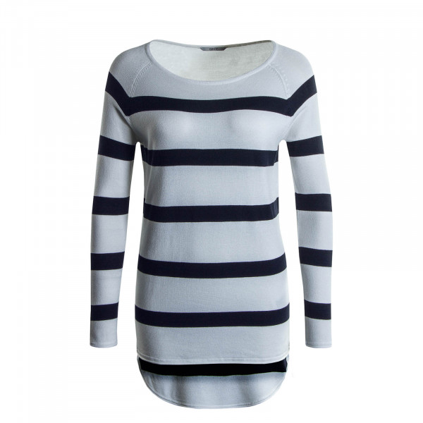 Damen Longsleeve Selena Stripe White Black