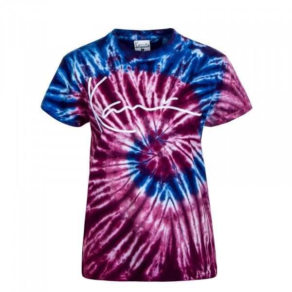 Damen T-Shirt Signature Tie Dye Pink Blue