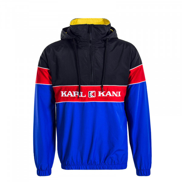 Herren Windbreaker Retro Black Blue Red
