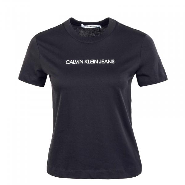 Damen T-Shirt - Shrunken Institution - Black / Muslin