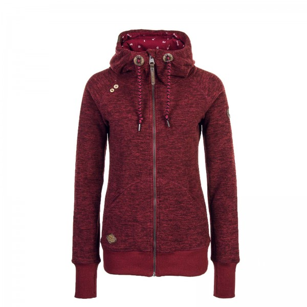 Ragwear Wmn Fleecejkt Terry Bordo