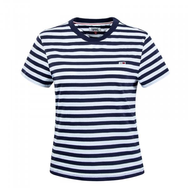 Damen T-Shirt Classics Navy White
