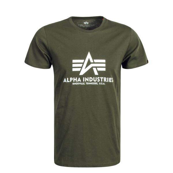 Herren T-Shirt Basic Olive