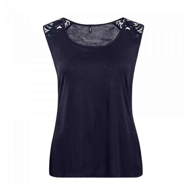 Damen Top Alba Crochet Navy