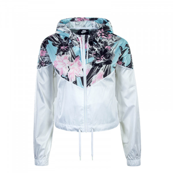 Damen Jacke Crop White Rose