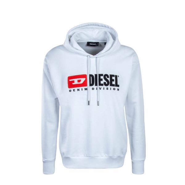 Diesel Hoody Division Felpa White