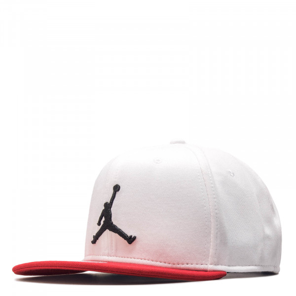 Cap Jumpman Snapback White Red