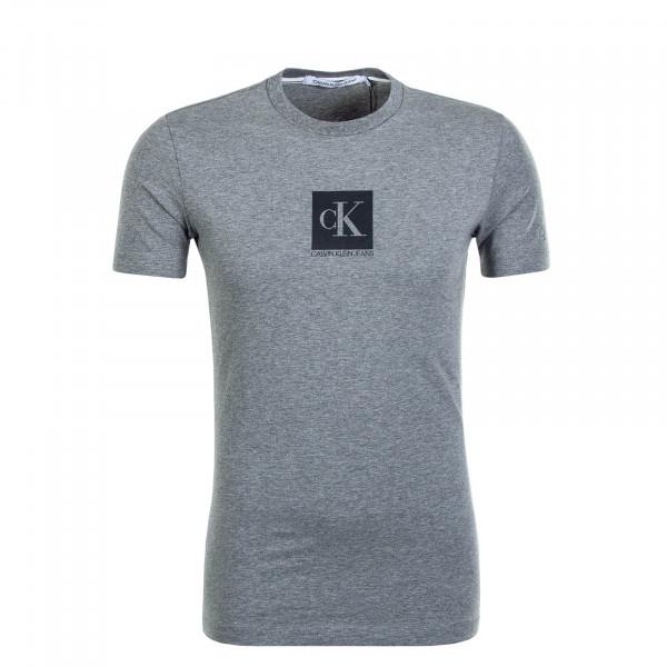 Herren T-Shirt Center Monogram Box Grey