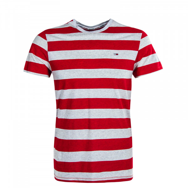 Herren T-Shirt TJM Heather Stripe Grey Red