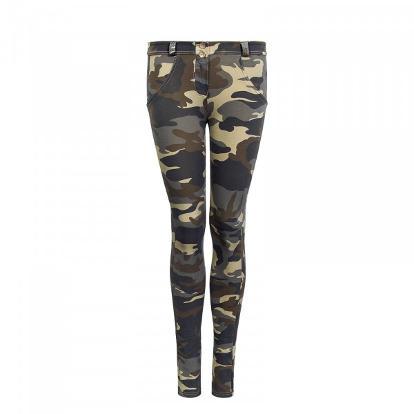 Damen Hose WR.UP® 1 RF04E Z48M Light Camouflage - Regular Waist Skinny