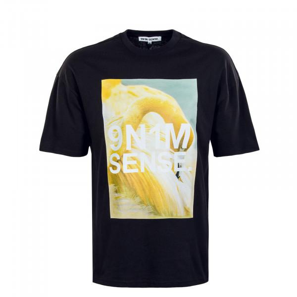 Herren T-Shirt - Yellow Flamingo - Black