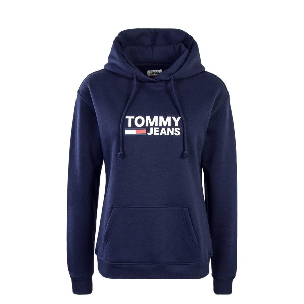 Tommy Wmn Hoody Corp Logo Navy