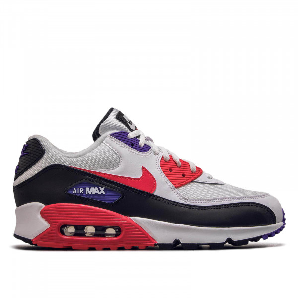 Herren Sneaker Air Max 90 Essential White Red Purple