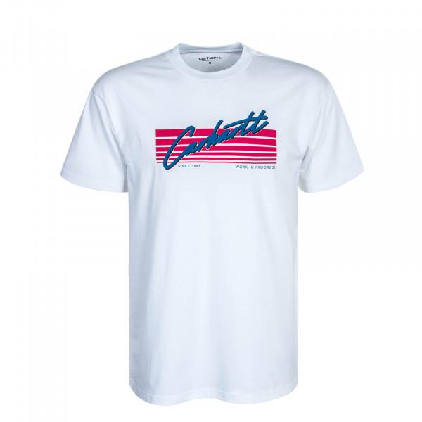 Herren T-Shirt Horizon White Red