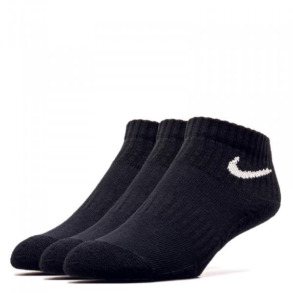 Unisex Socken  Ankle 3er-Packk Black