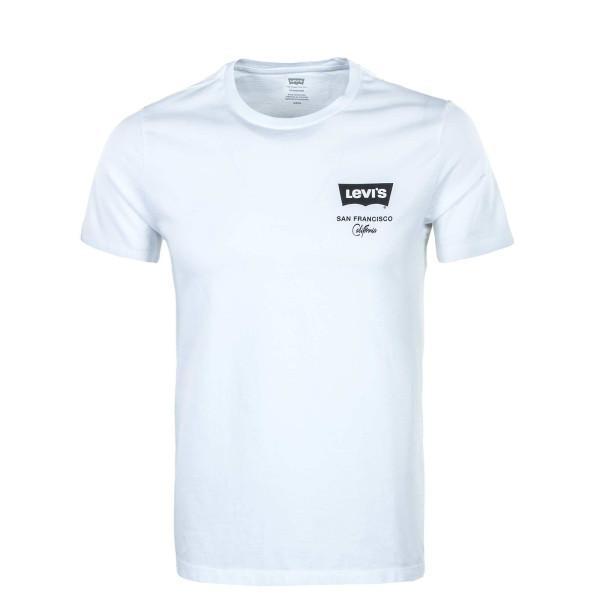 Herren T-Shirt - Housemark Graphic Left Chest - White