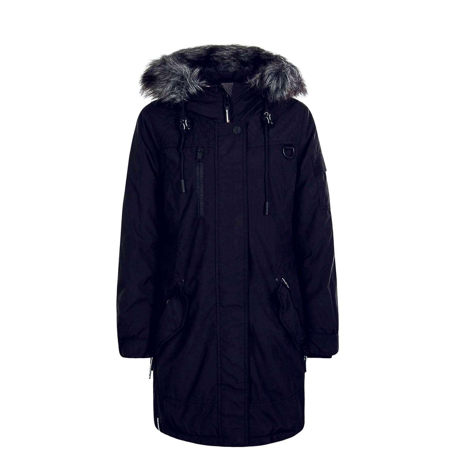 Khujo Cappi Damen Mantel schwarz
