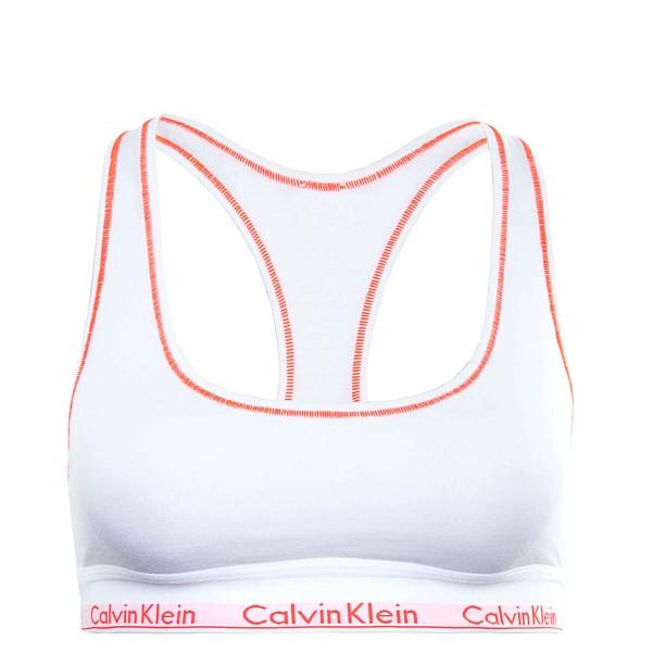 CK Wmn Bustier Bralette White Pink