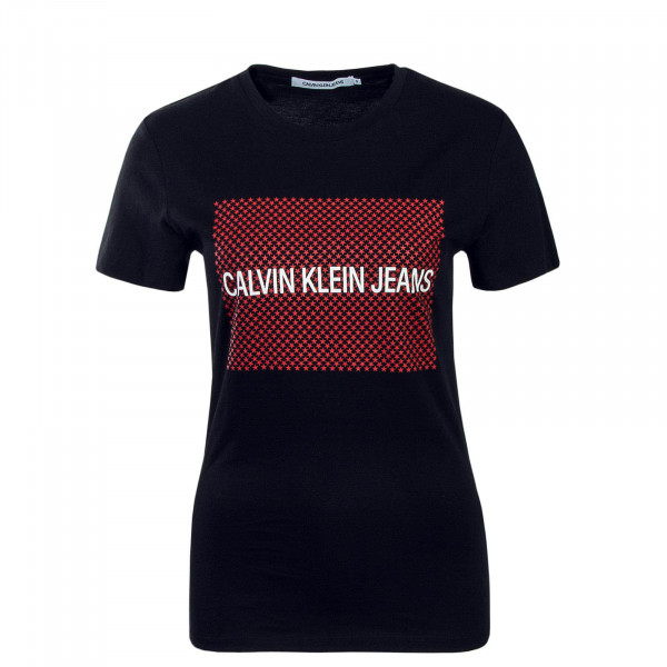 CK Wmn TS Institutional Star Black Red