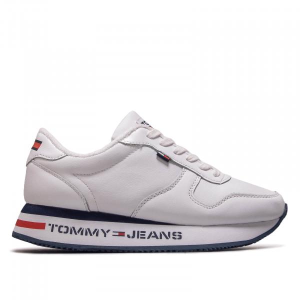 Damen Sneaker Flatform Runner White