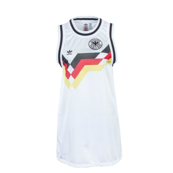 Adidas Wmn Dress Ger White Blk Red