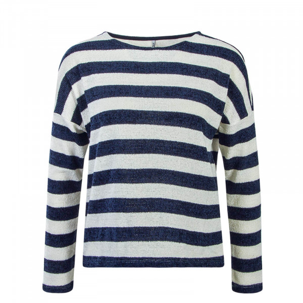 Damen Knit Star Stripe Navy White