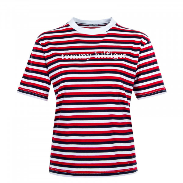 Damen T-Shirt 2268 Stripe White Red
