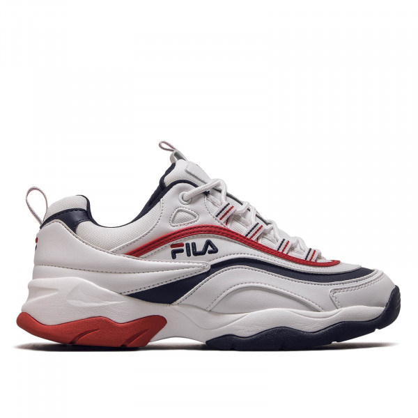 Herren Sneaker Ray F Low White Navy Red