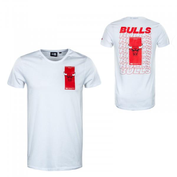 Herren T-Shirt - NBA Repeat Back Logo Chicago Bulls - White