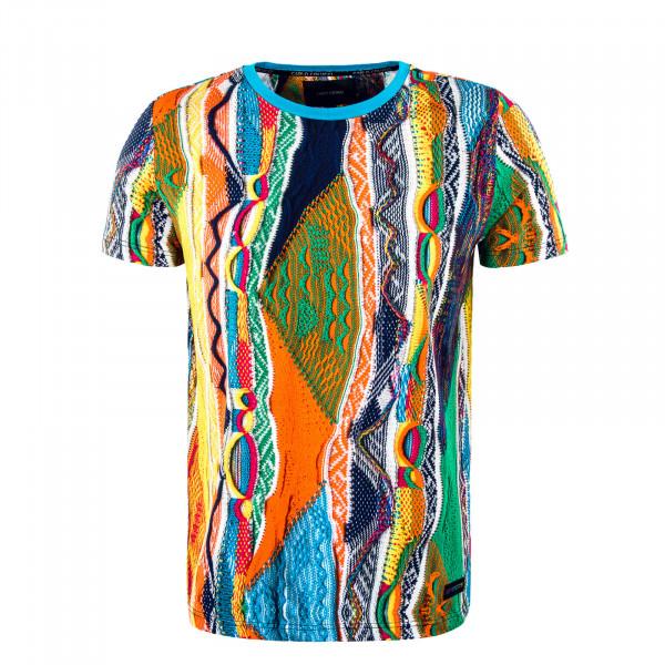 Herren T-Shirt - Yellow / Blue / Orange