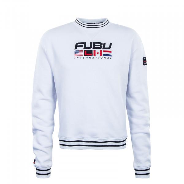 Herren Sweatshirt - Corporate Intnl Sweat - White / Black
