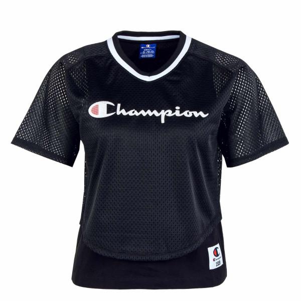 Damen T-Shirt - Neck 102903 - Black / White