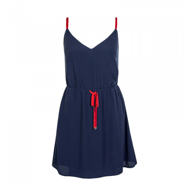 Kleid Essential Strap Navy Red