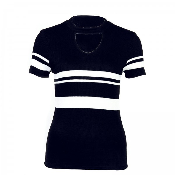 Only Knit TS Like Choker Stripe Black