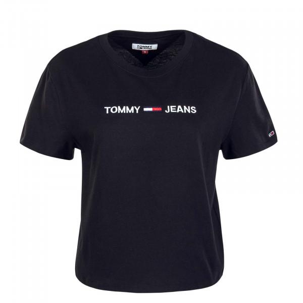 Damen T-Shirt Modern Linear Logo 8615 Black