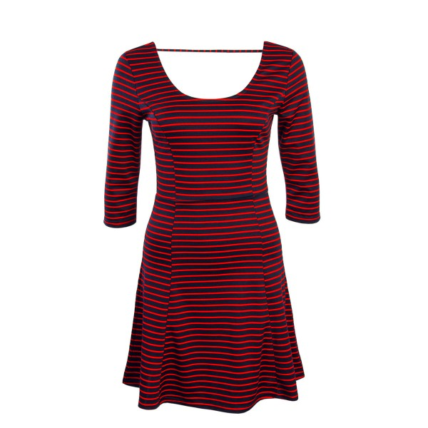 Only Dress Esra 3/4 Stripe Navy Red