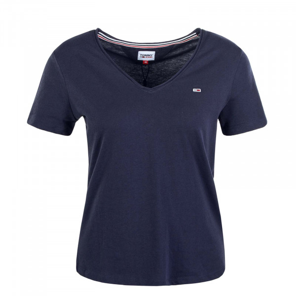 Damen T-Shirt Slim V Jersey 9195 Twilight Navy