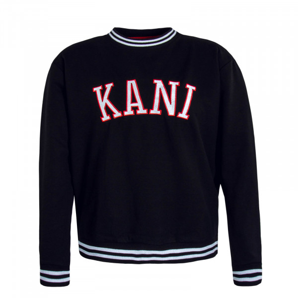 Herren Sweatshirt College Crew Black Red White