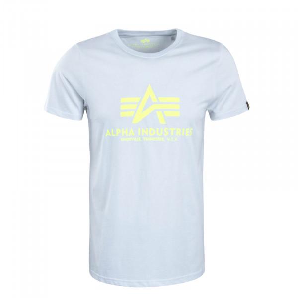 Herren T-Shirt Basic White Neon Yellow