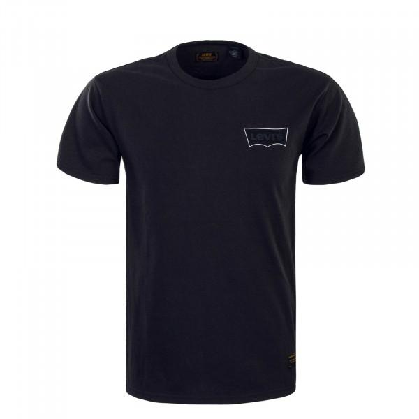 Herren T-Shirt Skate Graphic LSC Banner Black