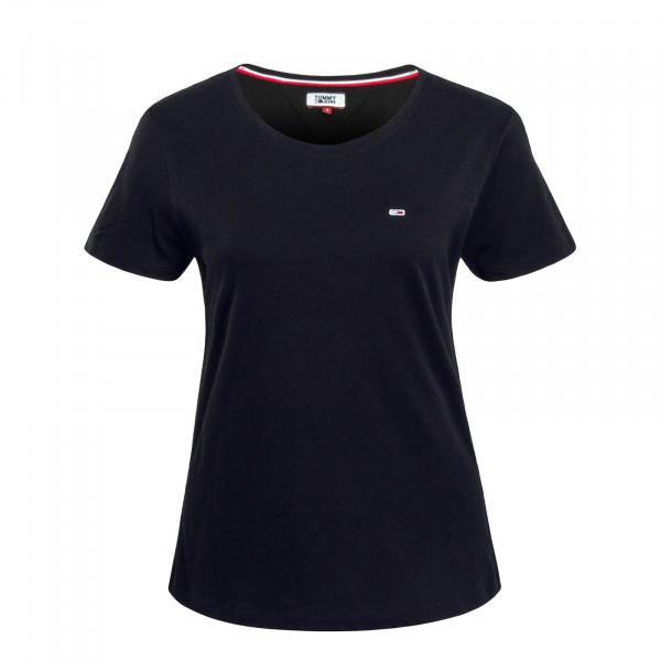 Damen T-Shirt Soft Jersey Black