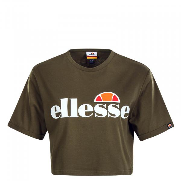Damen T-Shirt Crop Alberta Khaki