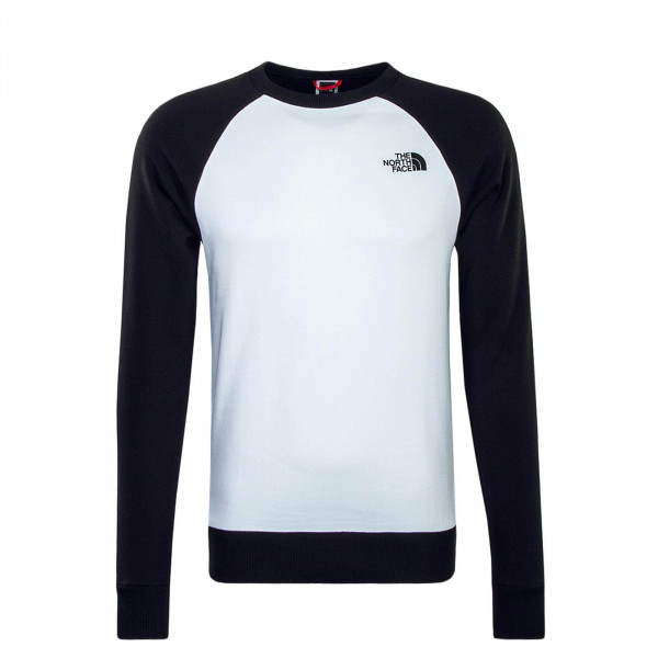 Sweatshirt Raglan Redbox White Black