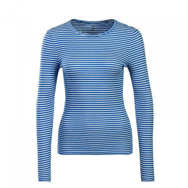 Longshirt Tina Stripe Sky White