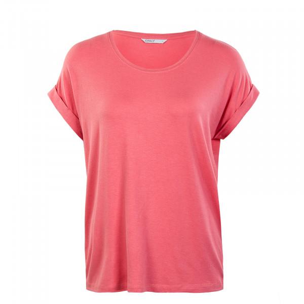 Damen T-Shirt - Moster Neck Top - Tea Rose