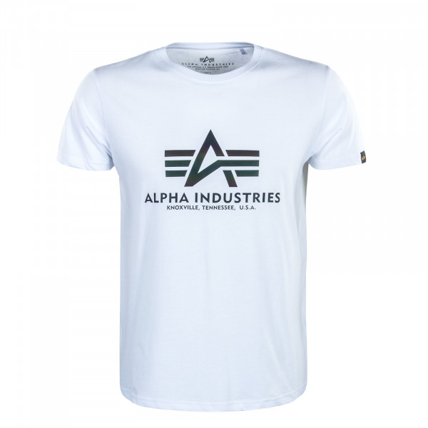 Herren T-Shirt Basic Rainbow Reflective White