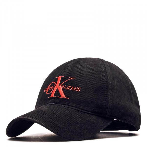 Cap Monogram Black Red