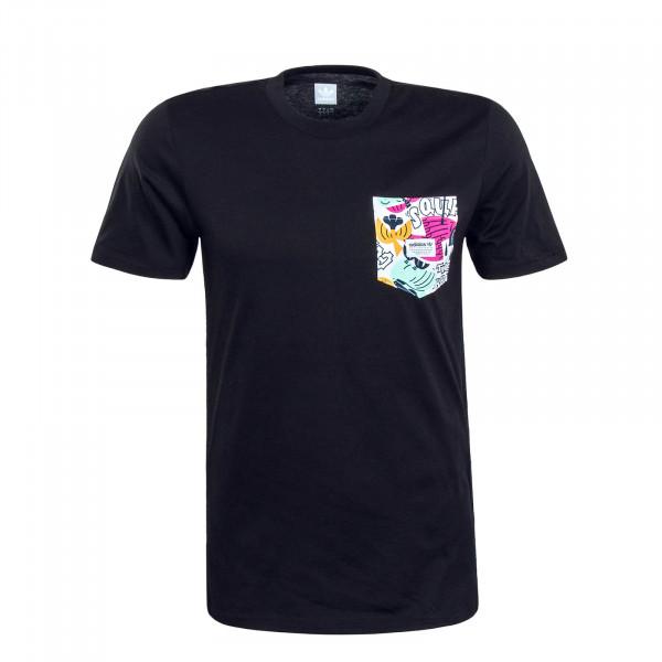 Herren T-Shirt Walker PKT Black Multi