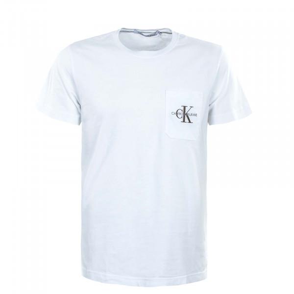 Herren T-Shirt - Monogram Pocket - White